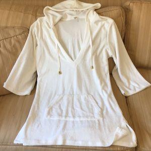 Elan white terry Coverup Small/medium